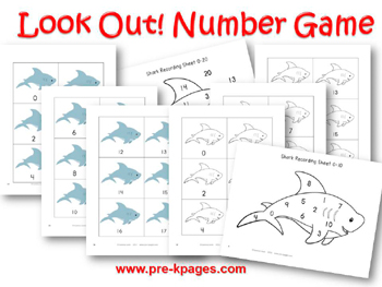 Ocean Number Identification Game for #preschool and #kindergarten