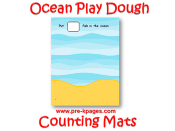 Printable Ocean Play Dough Counting Mats for #preschool