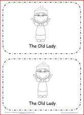 little old lady who swallowed a bell printable book