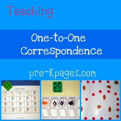 teaching one to one correspondence skills in pre-k