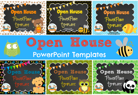 Open House PowerPoint Templates for #preschool and #kindergarten Add your own text!