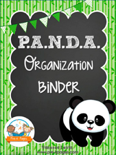 PANDA Binder: Printable Parent Communication Notebook for #preschool and #kindergarten