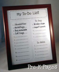 frame to do list