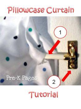 pillowcase curtain tutorial
