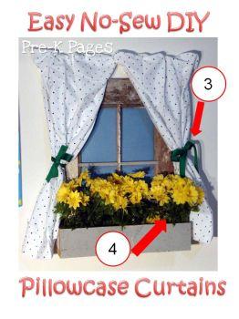 pillowcase curtains tutorial