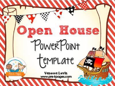 Pirate Open House PowerPoint Template for #preschool and #kindergarten