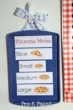 pizza magnetic menu