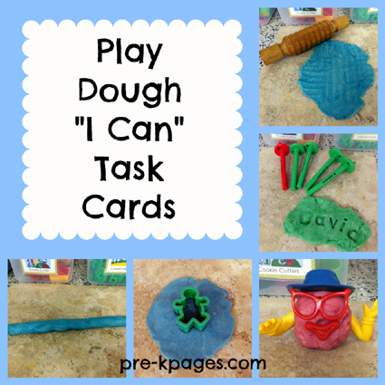 picture about Printable Task Cards known as Printable Enjoy Dough I Can Process Playing cards
