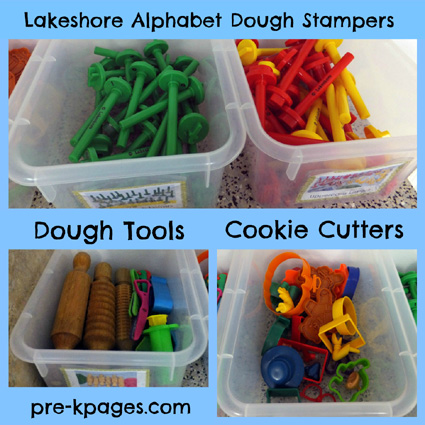 Play Dough Center Tools via www.pre-kpages.com