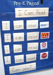 pocket chart shared reading