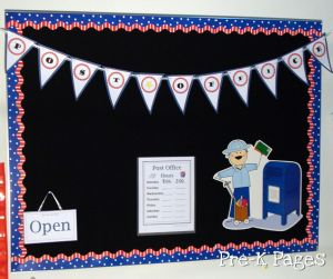dramatic play post office banner