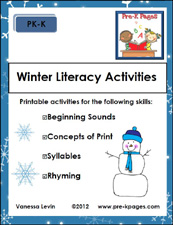 winter literacy packet