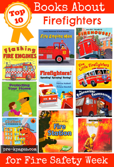 Books About Firefighters and Fire Safety for #preschool and #kindergarten