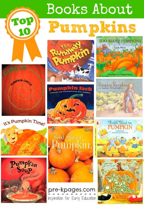 Best books about pumpkins for #preschool and #kindergarten