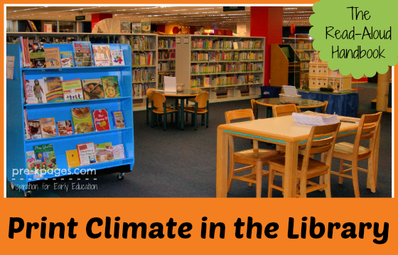 The Read-Aloud Handbook Chapter 6 Book Discussion: Print Climate in the Library #parents #literacy #readaloud #teachers