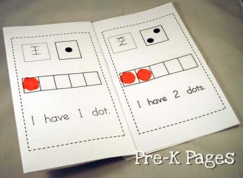 printable dot counting book