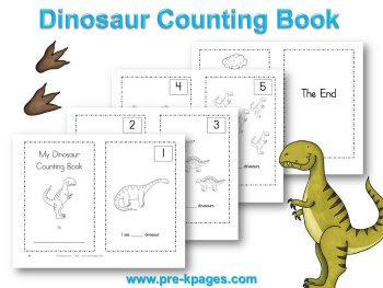 Printable Dinosaur Counting Book for #preschool and #kindergarten