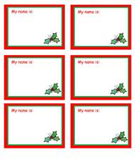 Santa Name Tags New Calendar Template Site