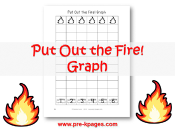 Printable Fire Safety Graphing Activity for #preschool