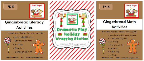 Printable Activities for Gingerbread Theme in Preschool and Kindergarten