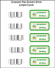 Free Loyalty Card Labels for your Dramatic Play Grocery Store via www ...