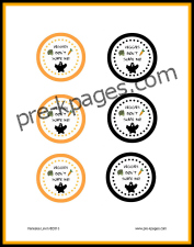 Free Printable Healthy Halloween Treat Toppers for Fruit and Veggies