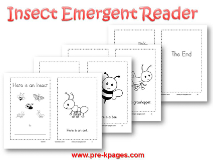 Printable Insect Emergent Reader for #preschool and #kindergarten
