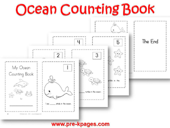 Printable Ocean Counting Book for #preschool and #kindergarten
