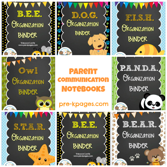 Printable Parent Communication Notebooks for #preschool and #kindergarten