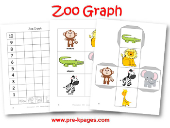 Printable Zoo Graphing Activity for pre-k and kindergarten