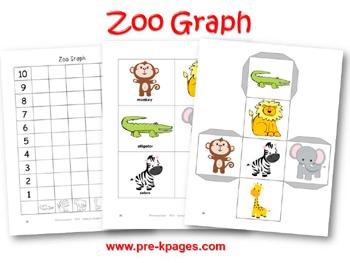 Number Names Worksheets kindergarten graphing worksheets : Zoo Animal Math Worksheets Kindergarten