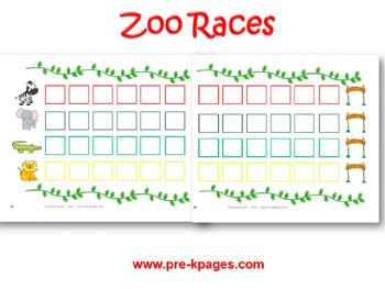 Printable Zoo Races Board Game For Preschool And Kindergarten