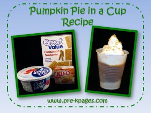 pumpkin pie in a cup recipe