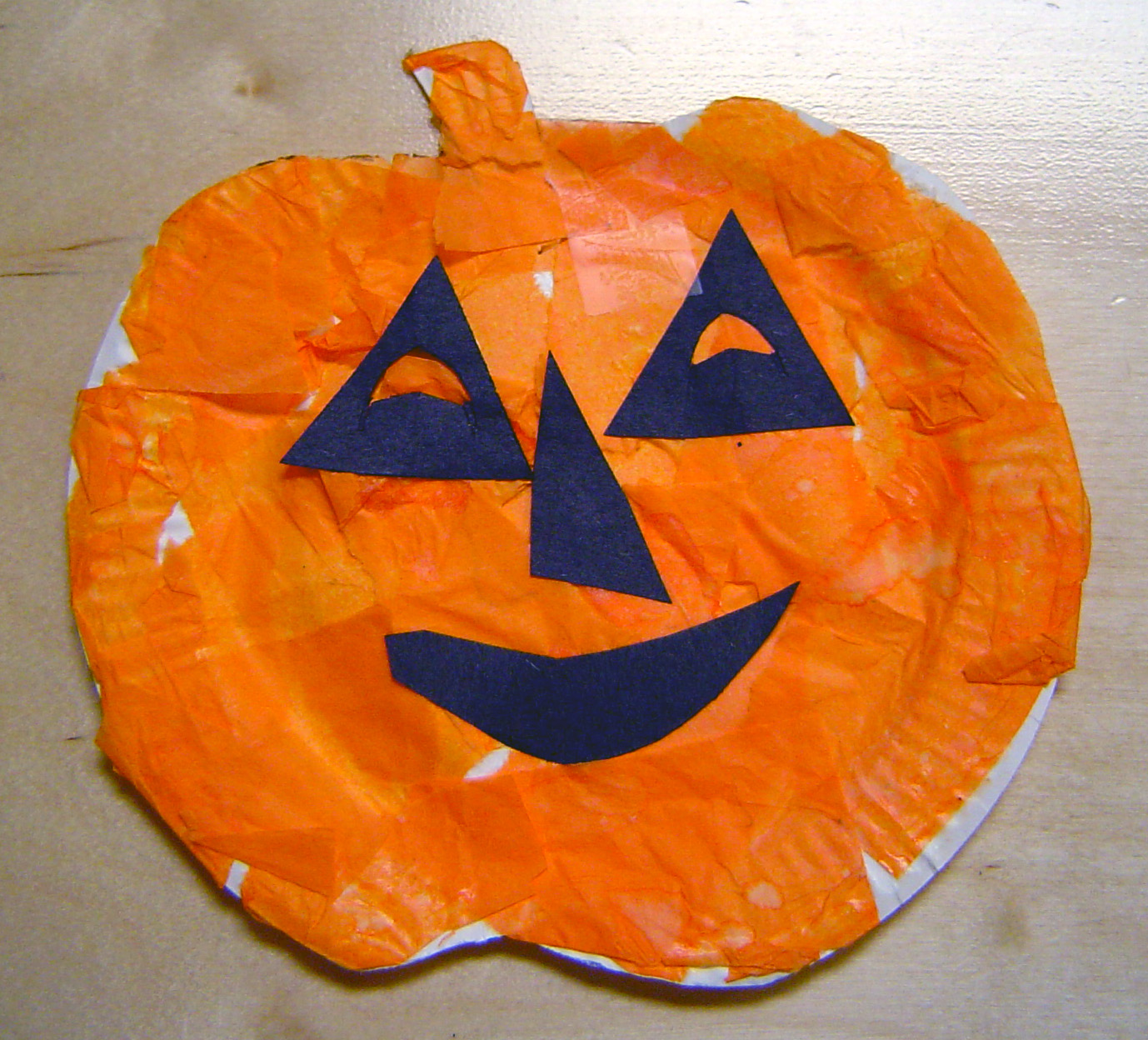 It is a picture of Agile Pumpkin Craft for Kindergarten