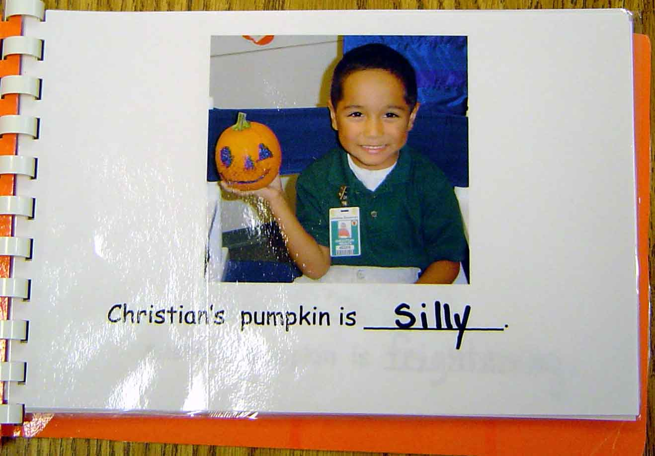 Pumpkin Book inside