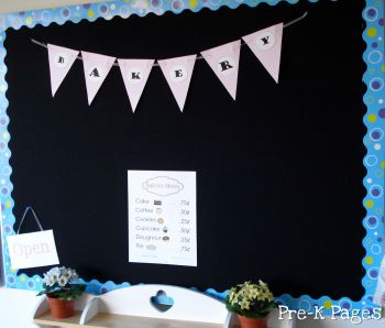 dramatic play bakery menu