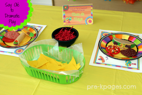 Say Ole to Dramatic Play with this Printable Mexican Restaurant kit for preschool and kindergarten