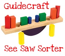 guidecraft see saw sorter puzzle