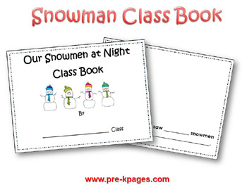 Snowman Class Counting Book Printable Template via www.pre-kpages.com