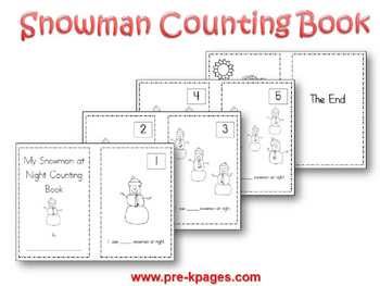 printable snowman counting book via wwwpre kpagescom - Free Preschool Printable Books