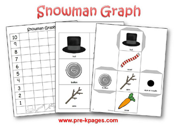 Printable Snowman Graphing Activity via www.pre-kpages.com