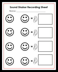 sound shaker recording sheet