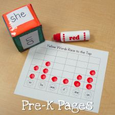 spring sight word race to the top