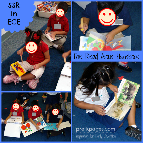 What does SSR look like in #preschool and #kindergarten ? #readaloud #literacy