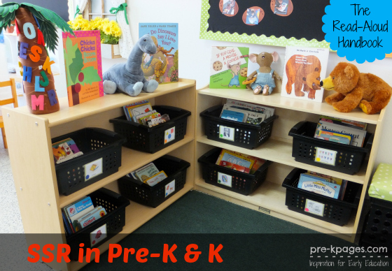 Classroom Library to support SSR and build stamina in #preschool and #kindergarten
