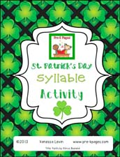 Free St. Patrick's Day Printable Syllable Activity for Preschool and Kindergarten