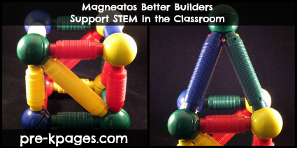 Support STEM in preschol or kindergarten with magneatos via www.pre-kpages.com