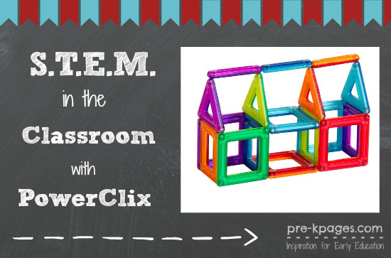 STEM in the Classroom with PowerClix from Guidecraft #preschool #kindergarten #STEM