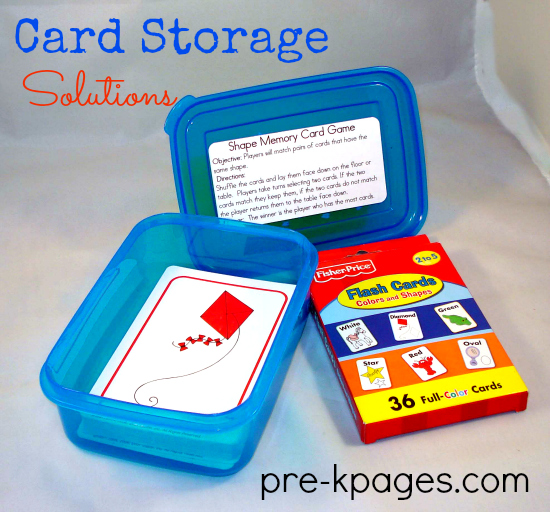 Storage Solutions for Playing Cards in the Classroom #preschool #kindergarten