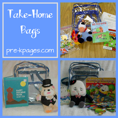 Take Home Bag Program for Pre-K and Kindergarten via www.pre-kpages.com